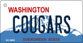Cougars Washington State License Plate Wholesale Key Chain KC-8693