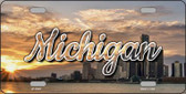 Michigan City Sunset Wholesale State License Plate LP-11607