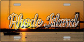 Rhode Island River Sunset Wholesale State License Plate LP-11628