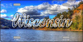 Wisconsin Colorful Lake Wholesale State License Plate LP-11640