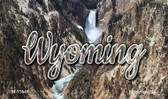 Wyoming Rocky Waterfall Wholesale Magnet M-11641