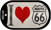 I Love Route 66 Novelty Wholesale Dog Tag Necklace DT-1253