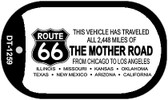 RT 66 Mother Road Novelty Wholesale Dog Tag Necklace DT-1259