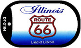 RT 66 Illinois State License Plate Novelty Wholesale Dog Tag Necklace DT-2104