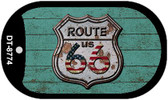 Route 66 Wood Rusty Logo Novelty Wholesale Dog Tag Necklace DT-8774
