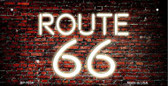 Route 66 Neon Brick Novelty Wholesale Bicycle License Plate BP-7854