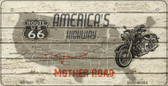 Americas Highway Mother Road Novelty Wholesale Bicycle License Plate BP-7857