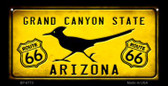 Arizona Route 66 Roadrunner Novelty Wholesale Bicycle License Plate BP-8773
