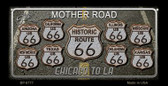 Route 66 Black Top Novelty Wholesale Bicycle License Plate BP-8777