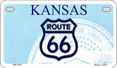 RT 66 Kansas State License Plate Novelty Wholesale Motorcycle License Plate MP-2105