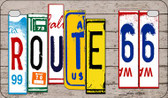 Route 66 License Plate Art Novelty Wholesale Motorcycle License Plate MP-7853