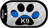 K9 Police Novelty Wholesale Dog Tag Necklace DT-9438