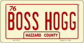 Boss Hogg Novelty Wholesale Bicycle Plate BP-8710