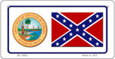 Confederate Florida Novelty Wholesale Bicycle Plate BP-10882