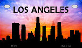 Los Angeles Silhouette Motorcycle License Plate MP-8703
