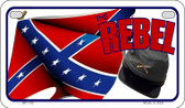 Rebel Cap and Flag Novelty Wholesale Motorcycle License Plate MP-152