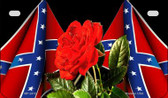 Confederate Rose Novelty Wholesale Motorcycle License Plate MP-2412