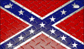 Confederate Diamond Novelty Wholesale Motorcycle License Plate MP-7996