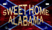 Sweet Home Alabama Novelty Wholesale Motorcycle License Plate MP-8005