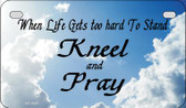 Kneel And Pray Clouds Novelty Wholesale Motorcycle License Plate MP-9859