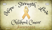 Childhood Cancer Ribbon Novelty Wholesale Motorcycle License Plate MP-8305