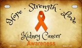 Kidney Cancer Ribbon Novelty Wholesale Motorcycle License Plate MP-8309