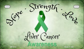 Liver Cancer Ribbon Novelty Wholesale Motorcycle License Plate MP-8312