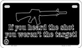 If You Heard The Shot Wholesale Motorcycle License Plate MP-4683