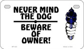 Never Mind Dog Wholesale Motorcycle License Plate MP-422