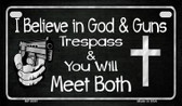 God and Guns Wholesale Motorcycle License Plate MP-8287