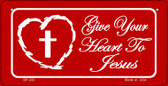 Give Your Heart To Jesus Novelty Wholesale Bicycle License Plate BP-242