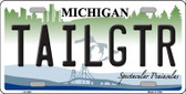 Tailgtr Michigan Novelty Wholesale Metal License Plate