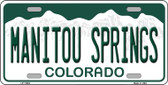 Manitou Springs Colorado Background Wholesale Novelty License Plate LP-11654