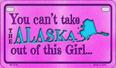 Alaska Girl Wholesale Motorcycle License Plate MP-9793