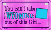 Wyoming Girl Wholesale Motorcycle License Plate MP-9841