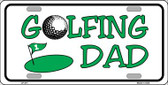 Golfing Dad Wholesale Metal Novelty License Plate