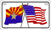 Arizona / USA Flag Wholesale Novelty Motorcycle Plate MP-1250