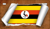Uganda Flag Scroll Wholesale Novelty Motorcycle Plate MP-9307
