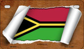 Vanuatu Flag Scroll Wholesale Novelty Motorcycle Plate MP-9313