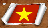 Vietnam Flag Scroll Wholesale Novelty Motorcycle Plate MP-9315
