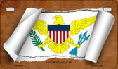 Virgin Islands US Flag Scroll Wholesale Novelty Motorcycle Plate MP-9316