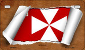 Wallis and Futuna Flag Scroll Wholesale Novelty Motorcycle Plate MP-9317