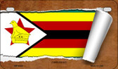 Zimbabwe Flag Scroll Wholesale Novelty Motorcycle Plate MP-9320