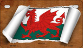 Wales Flag Scroll Wholesale Novelty Motorcycle Plate MP-9324