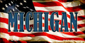 Michigan US Flag Wholesale Novelty Bicycle Plate BP-3633