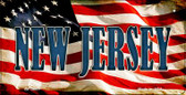 New Jersey US Flag Wholesale Novelty Bicycle Plate BP-3641