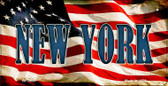 New York US Flag Wholesale Novelty Bicycle Plate BP-3643