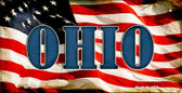 Ohio US Flag Wholesale Novelty Bicycle Plate BP-3646