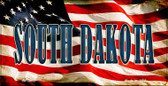 South Dakota US Flag Wholesale Novelty Bicycle Plate BP-3652