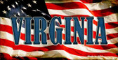 Virginia US Flag Wholesale Novelty Bicycle Plate BP-3657